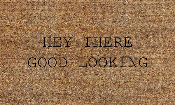 HEY THERE (FILAMENT HOSPITALITY) 18 X 30 Flocked Classic Coir (PDC) - The Personalized Doormats Company