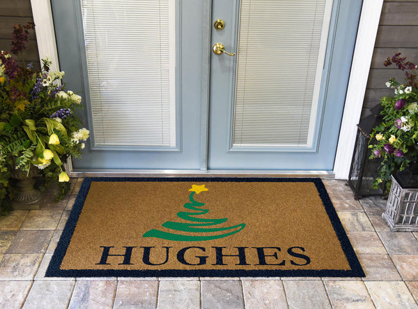 Christmas Tree Personalized DuraColor Doormat