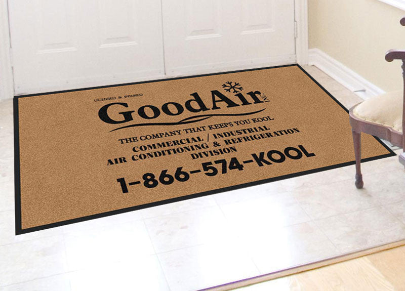 Good Air Inc 3 X 6 Rubber Backed Carpeted HD - The Personalized Doormats Company