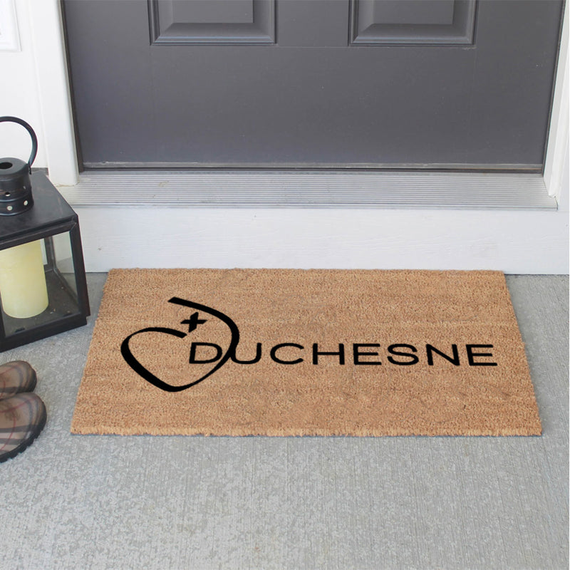 Duchesne 18 X 30 Flocked Classic Coir (PDC) - The Personalized Doormats Company