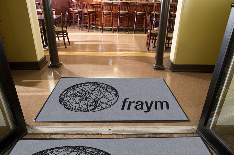 Fraym 4 X 6 Rubber Backed Carpeted HD - The Personalized Doormats Company