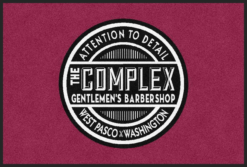 Complex barbershop 2 X 3 Rubber Backed Carpeted HD - The Personalized Doormats Company