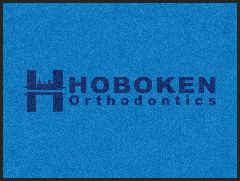 Hoboken Ortho Doormat 3 X 4 Rubber Backed Carpeted HD - The Personalized Doormats Company