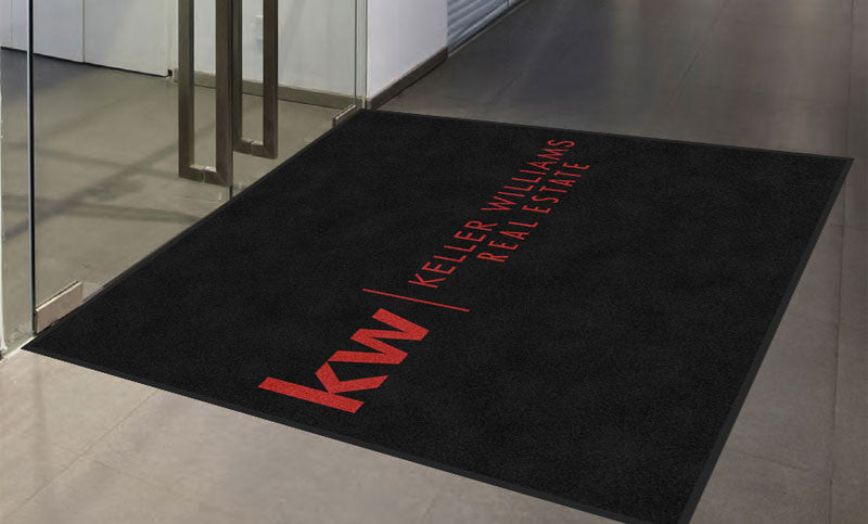 Keller Williams 6 X 6 Rubber Backed Carpeted HD - The Personalized Doormats Company
