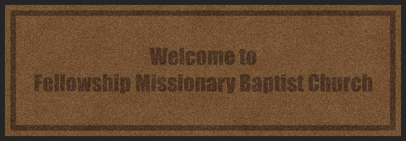 Fellowship Missionary Baptist Church 2 X 6 Custom Plush 30 HD - The Personalized Doormats Company