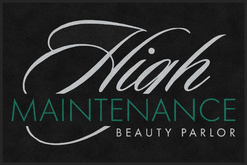 High Maintenance Beauty Parlor 4 X 6 Rubber Backed Carpeted HD - The Personalized Doormats Company