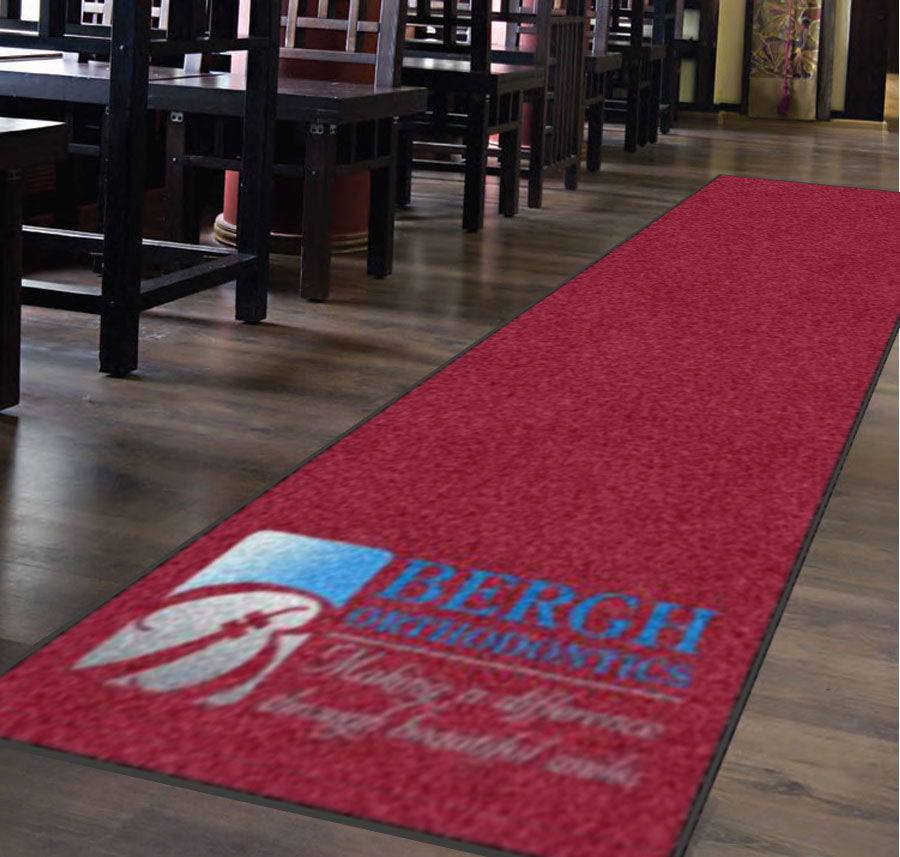 Bergh Orthodontics 4 X 14 Rubber Backed Carpeted HD - The Personalized Doormats Company