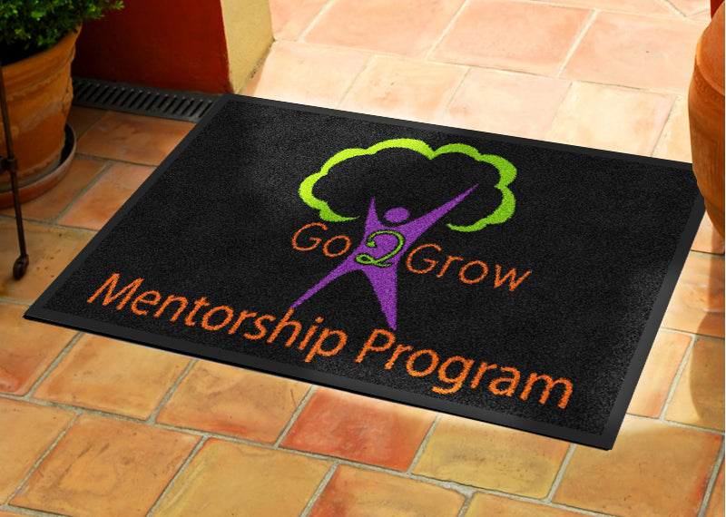 Go2Grow 2 X 3 Rubber Backed Carpeted - The Personalized Doormats Company