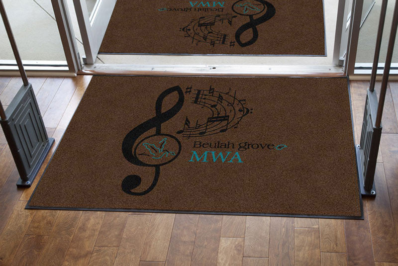 Beulah Grove Baptist Church 4 X 6 Rubber Backed Carpeted HD - The Personalized Doormats Company