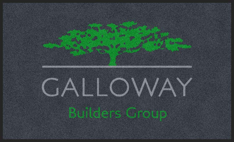 GALLOWAY BUILDERS GROUP 3 X 5 Rubber Backed Carpeted HD - The Personalized Doormats Company