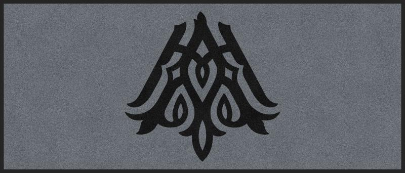 Avalon - Employee Entrance - Monogram 3 X 7 Rubber Backed Carpeted HD - The Personalized Doormats Company