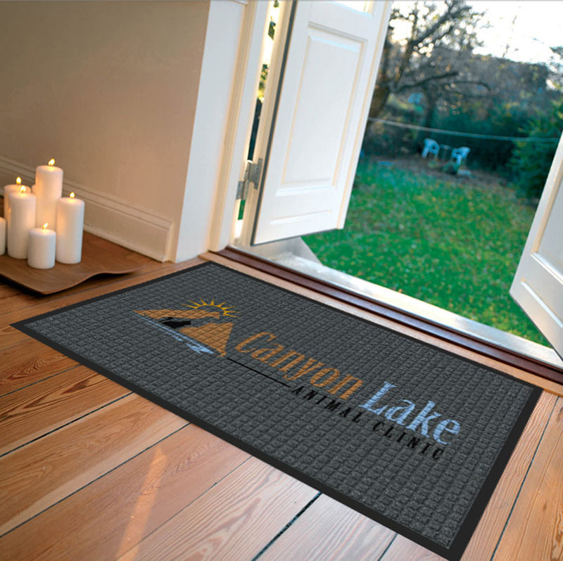 Canyon Lake Animal Clinic 2 x 3 Waterhog Impressions - The Personalized Doormats Company