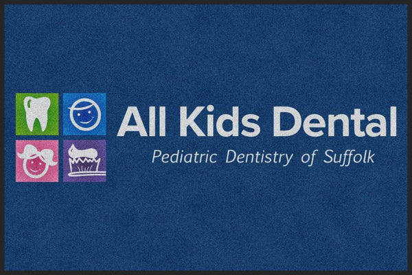 All Kids Dental 4 X 6 Rubber Backed Carpeted HD - The Personalized Doormats Company