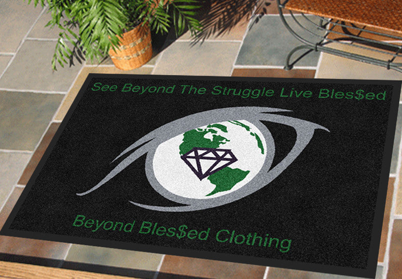 Beyond Bles$ed Clothing 2 X 3 Rubber Backed Carpeted HD - The Personalized Doormats Company