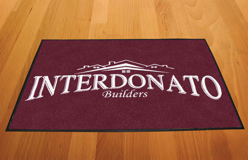 Interdonato 2 X 3 Rubber Backed Carpeted HD - The Personalized Doormats Company