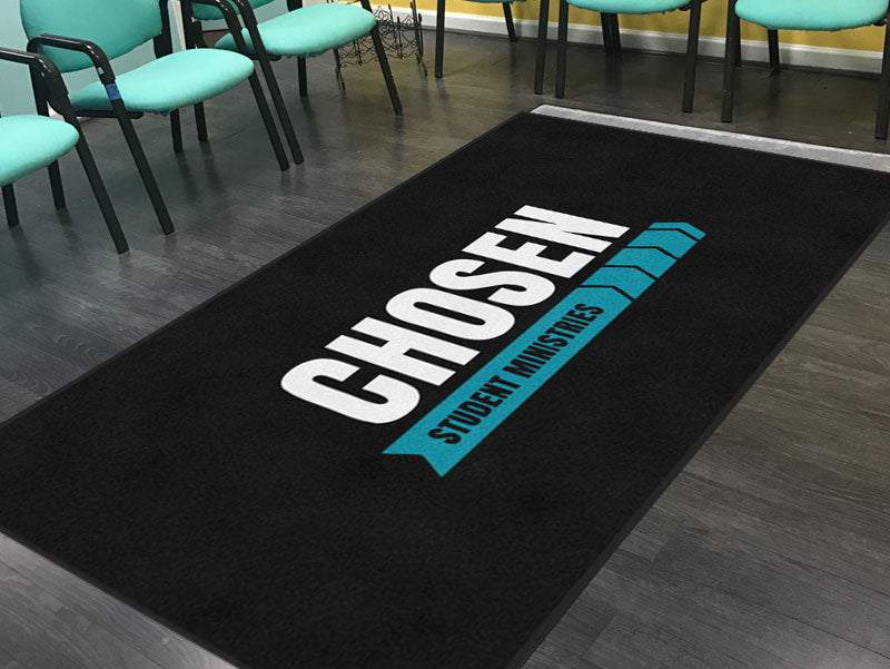 Chosen Student Ministries 5 X 10 Rubber Backed Carpeted HD - The Personalized Doormats Company