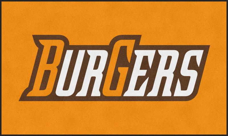 Burgers 6 X 10 Rubber Backed Carpeted HD - The Personalized Doormats Company