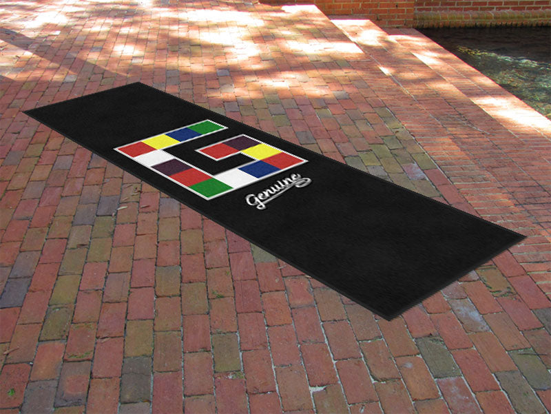 Genuine Inc 3 x 10 Rubber Backed Carpeted HD - The Personalized Doormats Company