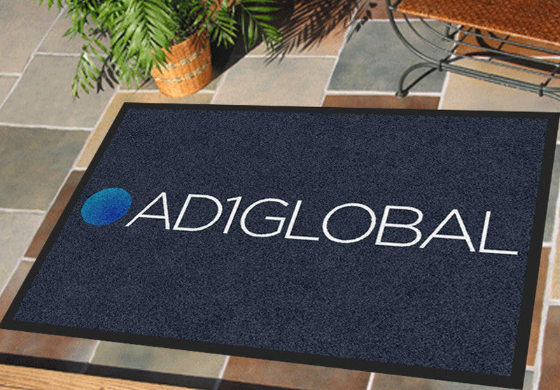 AD1GlobAL 2 X 3 Rubber Backed Carpeted HD - The Personalized Doormats Company