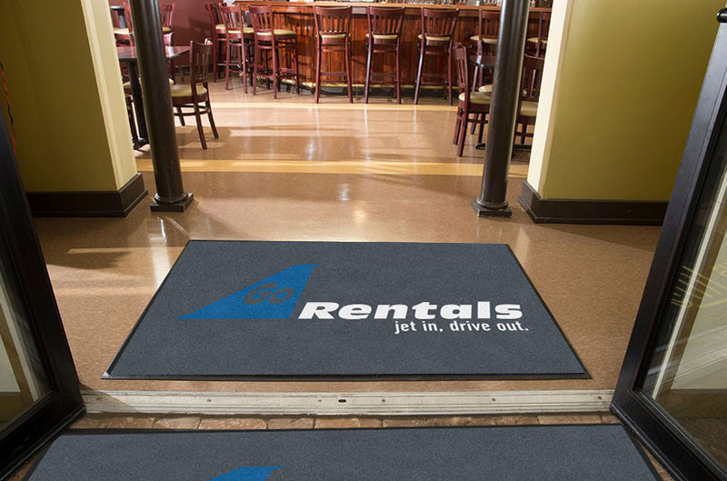 Go Rentals 4 X 6 Rubber Backed Carpeted HD - The Personalized Doormats Company