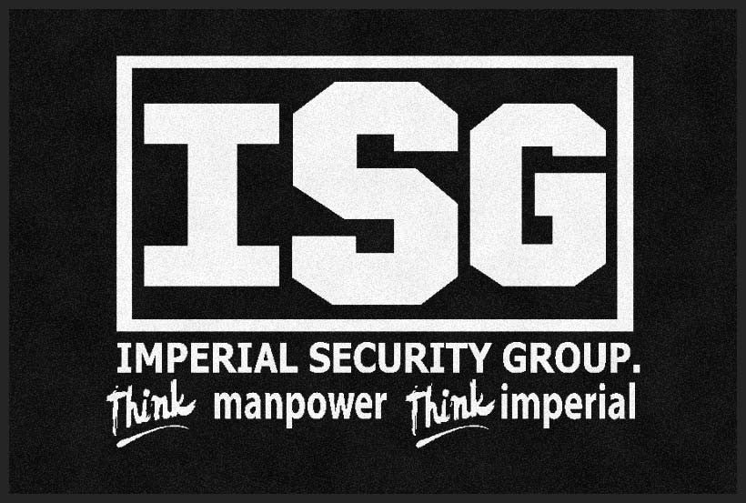 IMPERIAL SECURITY GROUP 2 X 3 Rubber Backed Carpeted HD - The Personalized Doormats Company