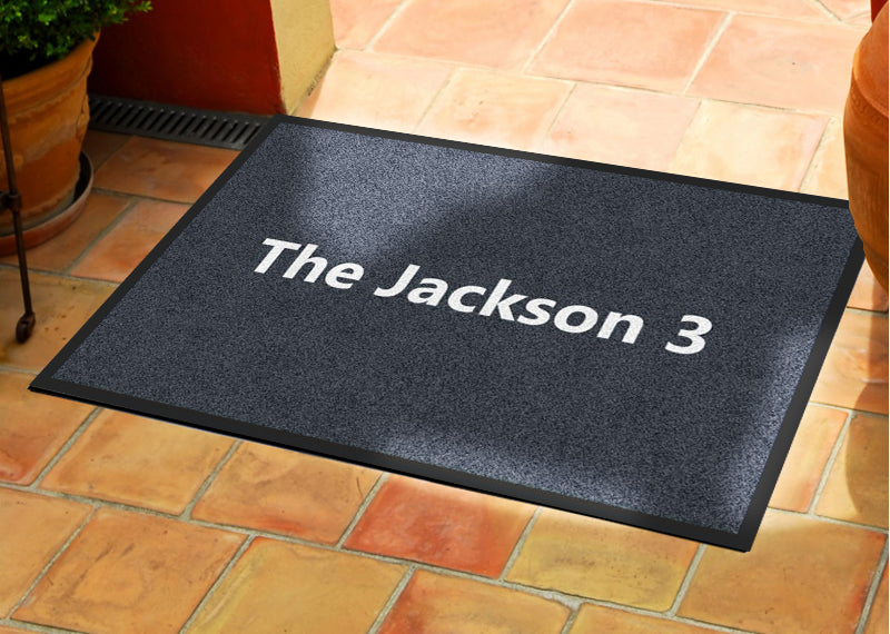 Jackson 2 X 3 Rubber Backed Carpeted HD - The Personalized Doormats Company