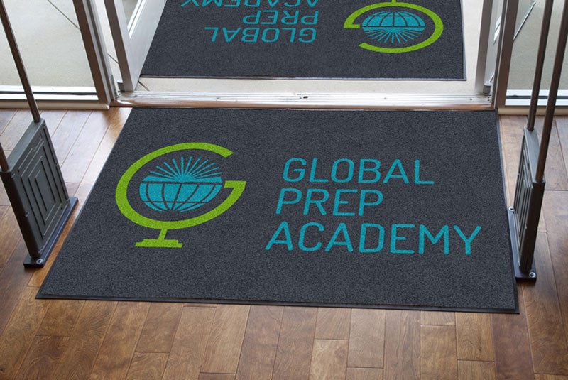 Global Prep Academy 4 X 6 Rubber Backed Carpeted HD - The Personalized Doormats Company