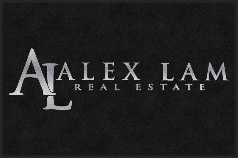 Alex Lam - Silver 4 X 6 Rubber Backed Carpeted HD - The Personalized Doormats Company