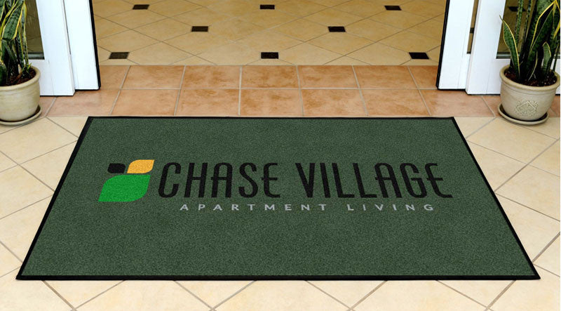 chase village 3 X 5 Rubber Backed Carpeted HD - The Personalized Doormats Company