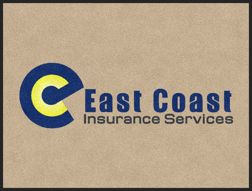 East Coast Inurance Services 3 x 4 Rubber Backed Carpeted HD - The Personalized Doormats Company