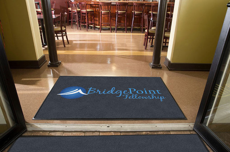 Bridgepoint 4 X 6 Rubber Backed Carpeted HD - The Personalized Doormats Company