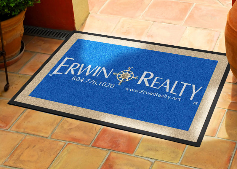 ErwinRealty1 2 X 3 Rubber Backed Carpeted HD - The Personalized Doormats Company