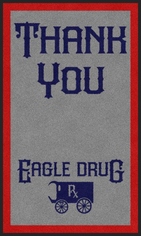Eagle Drug 3 X 5 Rubber Backed Carpeted - The Personalized Doormats Company