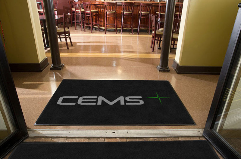 CEMS 4 x 6 Rubber Backed Carpeted - The Personalized Doormats Company