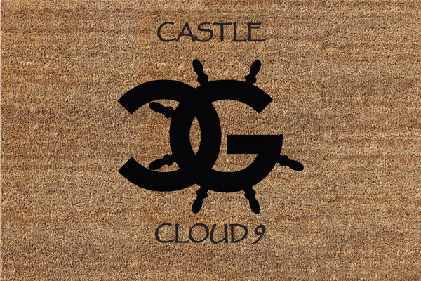 CG LOGO (Castle Cloud 9) 2 X 3 Flocked Classic Coir (PDC) - The Personalized Doormats Company