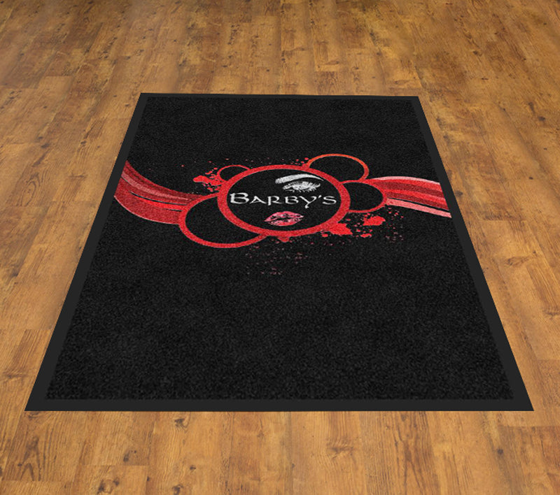Barbys 2 x 3 Rubber Backed Carpeted - The Personalized Doormats Company