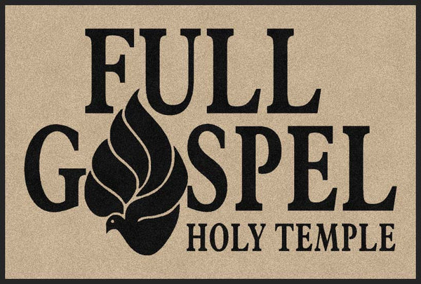 Full Gospel Holy Temple 4 X 6 Rubber Backed Carpeted HD - The Personalized Doormats Company