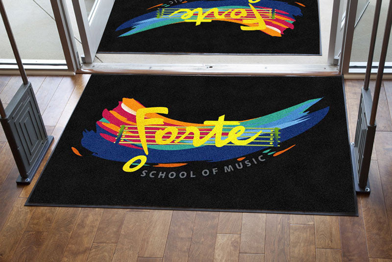 Forte School of Music 4 X 6 Rubber Backed Carpeted HD - The Personalized Doormats Company