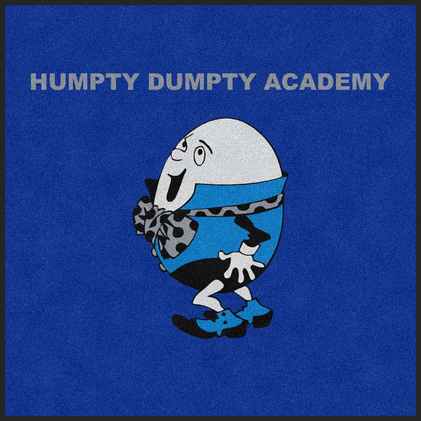 HUMPTY HUMPTY ACADEMY 6 X 6 Rubber Backed Carpeted HD - The Personalized Doormats Company