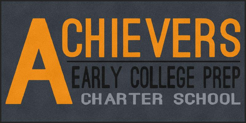Achievers Early College Prep 6 X 12 Rubber Backed Carpeted HD - The Personalized Doormats Company