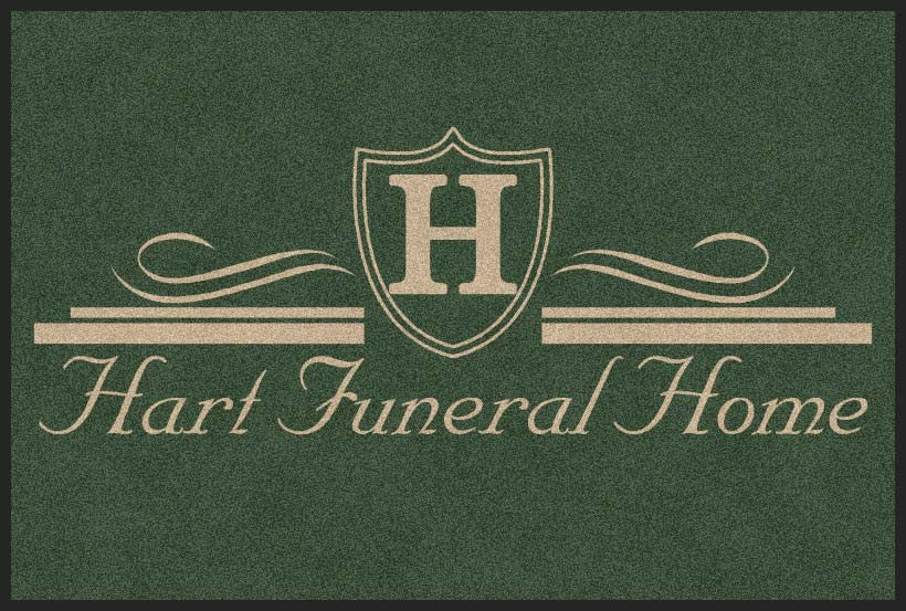 HART FUNERAL HOME 4 X 6 Rubber Backed Carpeted HD - The Personalized Doormats Company