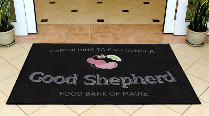 Good Shepherd Food Bank 3 X 5 Rubber Backed Carpeted HD - The Personalized Doormats Company