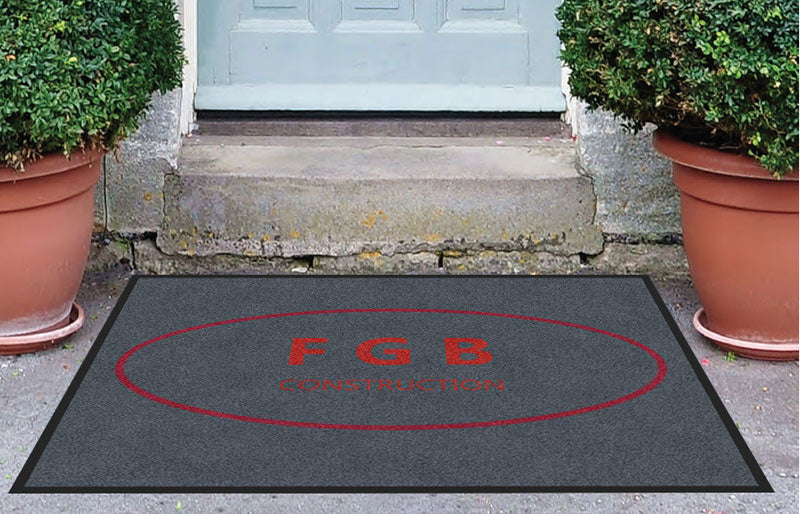 FGB Construction 3 X 4 Rubber Backed Carpeted HD - The Personalized Doormats Company