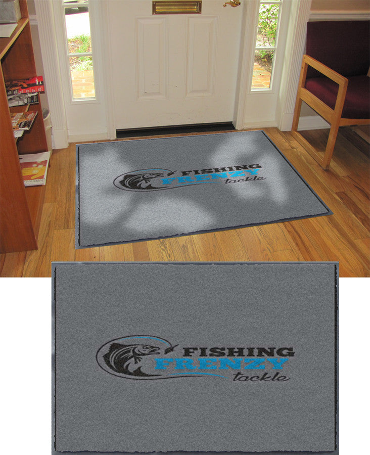 Fishing Frenzy Tackle 3 X 4 Flocked Olefin 3 Color - The Personalized Doormats Company