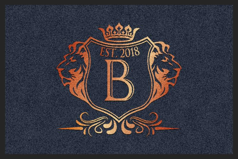 BOWDEN CREST 2 X 3 Rubber Backed Carpeted HD - The Personalized Doormats Company