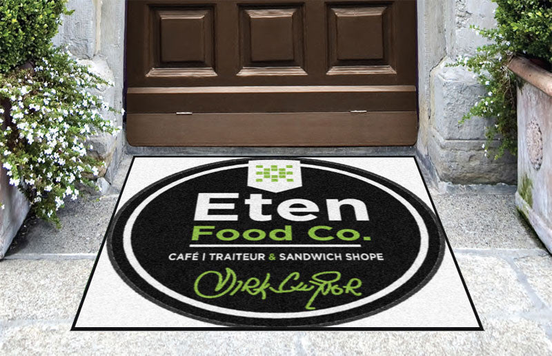 Eten Cafe 3 X 3 Rubber Backed Carpeted HD - The Personalized Doormats Company