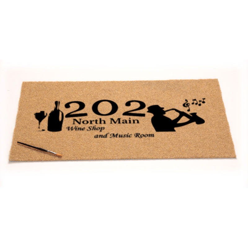 202 coir outdoor mat 18 X 30 Flocked Duracoir (PDC) - The Personalized Doormats Company