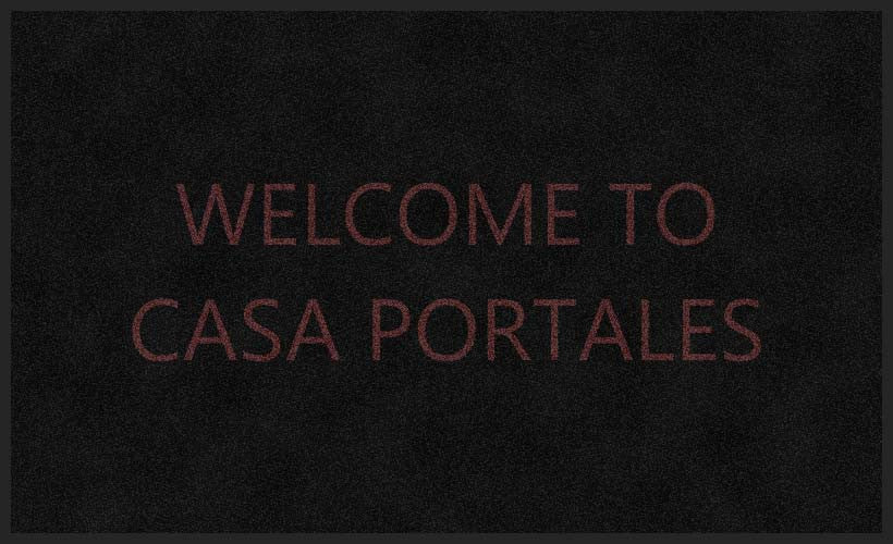 Casa portales 3 X 5 Rubber Backed Carpeted HD - The Personalized Doormats Company