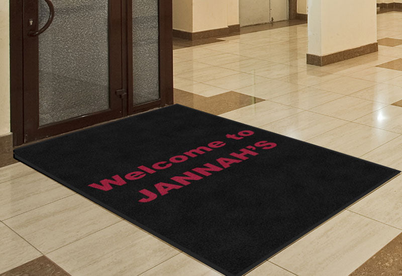 Jannahs Cuisine 4 X 6 Rubber Backed Carpeted HD - The Personalized Doormats Company