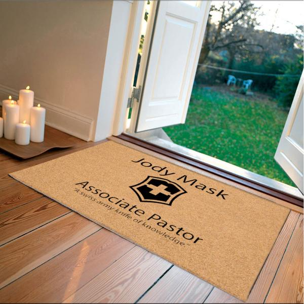 Flocked DuraCoir Logomat Custom Logo Mat - The Personalized Doormats Company